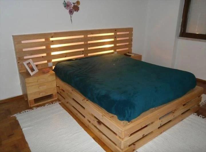 40 Creative Wood Pallet Bed Design Ideas » EcstasyCoffee on Bed Pallet Design  id=38567