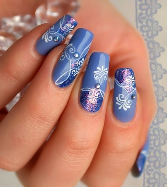 Pics Of Nail Art: 30 Amazing Rhinestone Nail Art Designs » EcstasyCoffee