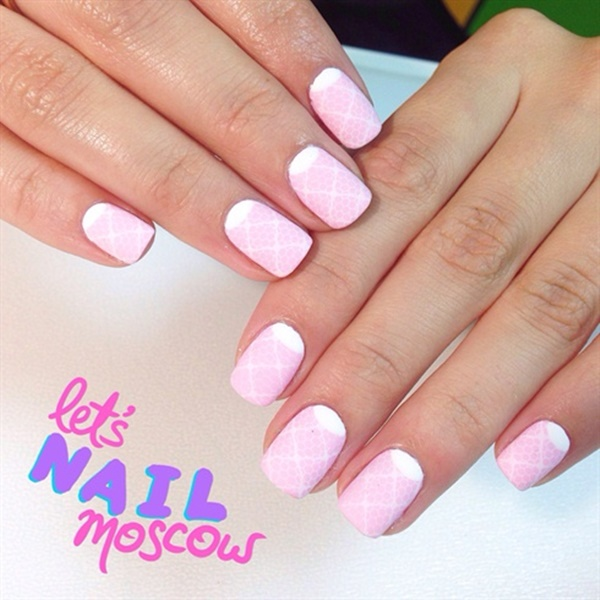Dynamic Views Very Beautiful And Preity Nails Art Red: 50 Most Beautiful Pink And White Nails Designs Ideas You