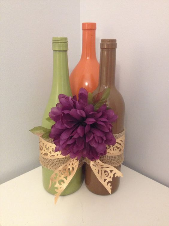 three-recycled-wine-bottles