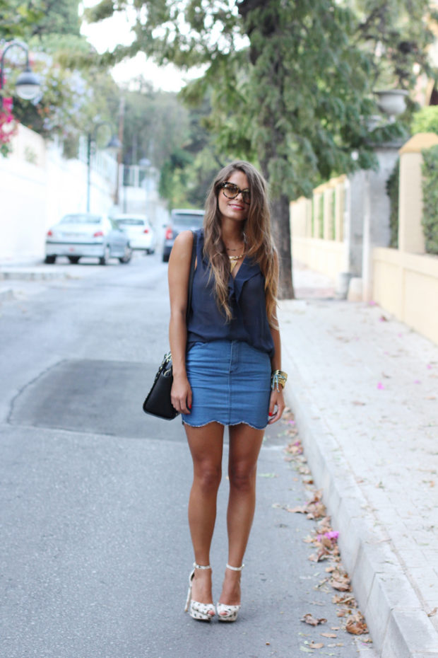 40 Lovely Denim Skirts To Wear Now 187 Ecstasycoffee