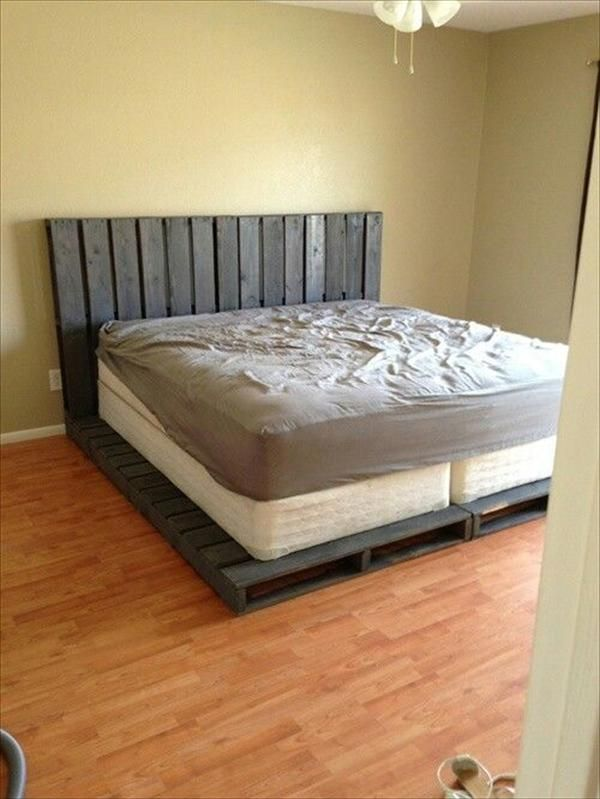 wood pallet bed design photos collected via pinterestcom - Wood Pallet Bed Frame With Lights