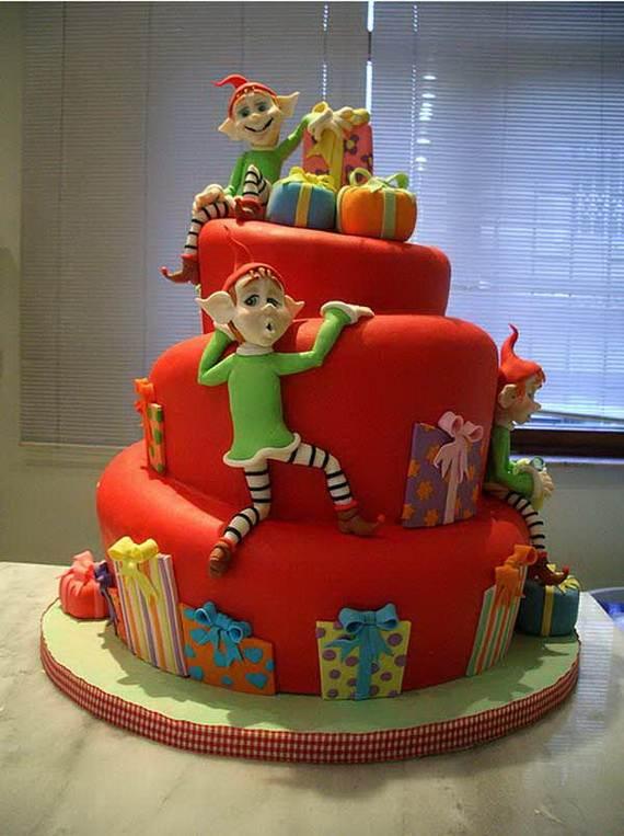 56 Wonderful Ideas For Christmas Cake Decorating