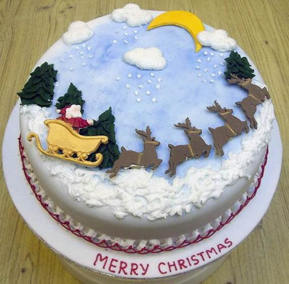 56 Wonderful Ideas For Christmas Cake Decorating