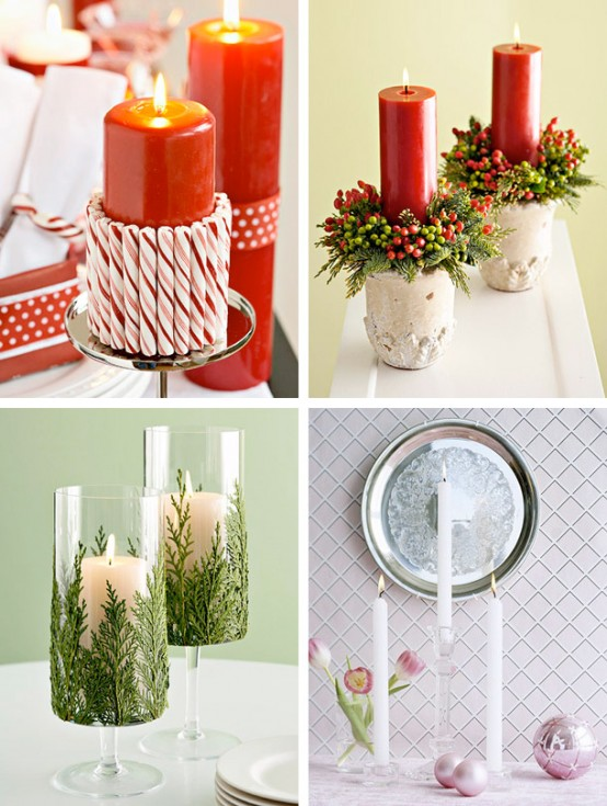 christmas candles holders design - Christmas Candle Holders Decorations