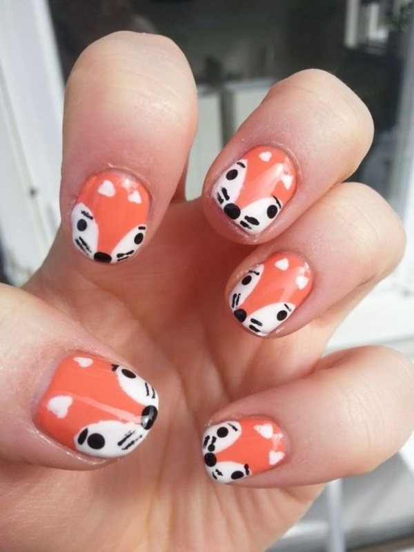 60 Creative Cartoon Inspired Nail Art Ideas » EcstasyCoffee