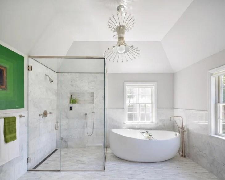 Wood Tile Bathroom Shower Walk In