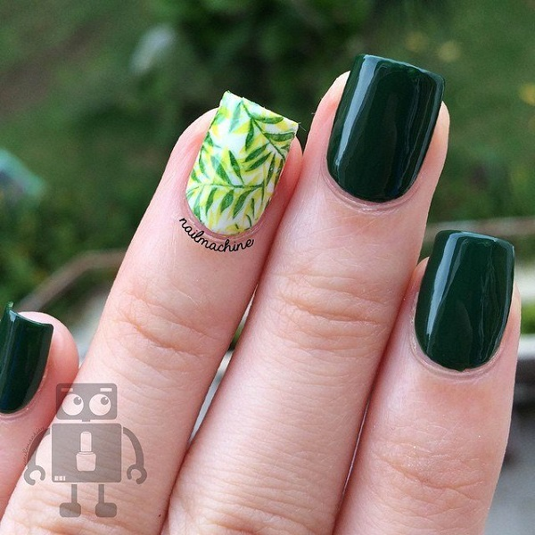 32 Gorgeous Nail Art Images Inspired By Summer Motifs: 50 Beautiful And Unique Green Nail Art Designs Ideas