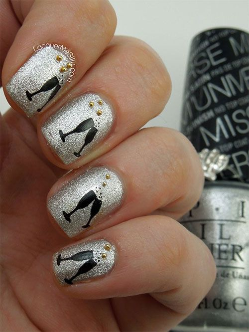45 gorgeous nail art design for new years eve ecstasycoffee nail art design new year eve 4 prinsesfo Gallery