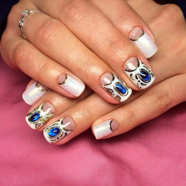 30 Amazing Rhinestone Nail Art Designs Ecstasycoffee: 43 Cute Nail Art Designs With Stones For The Perfect