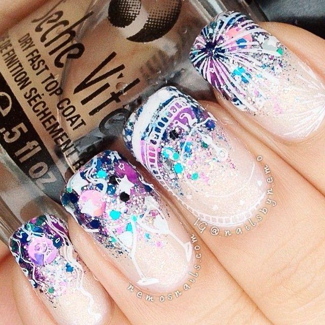 26 New Year\'s Eve Nail Art Designs Ideas » EcstasyCoffee
