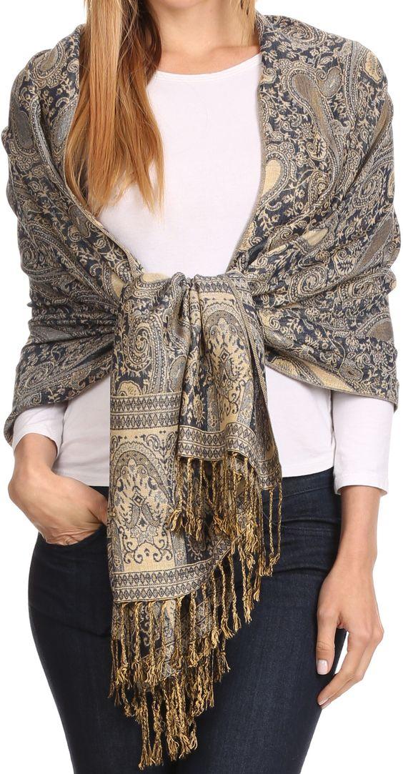 30 super stylish ways to tie a pashmina scarvesshawl