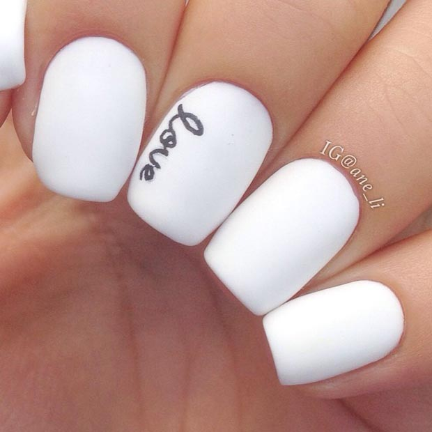 beautiful black and white nail