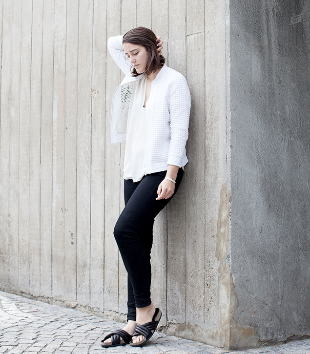how to wear a white blouse casually