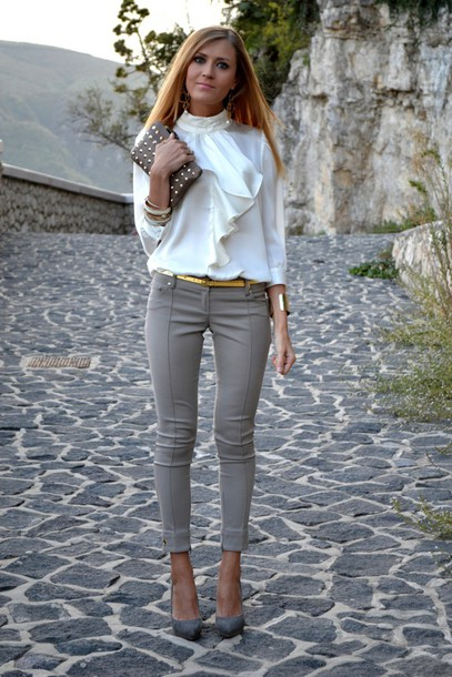 40 Inspiring Ways To Wear White Blouse 187 Ecstasycoffee