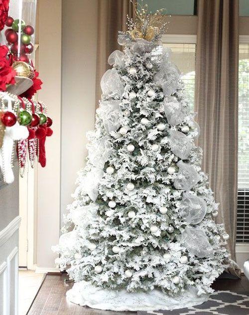 White Christmas Tree Photos Collected Via Pinterest.com