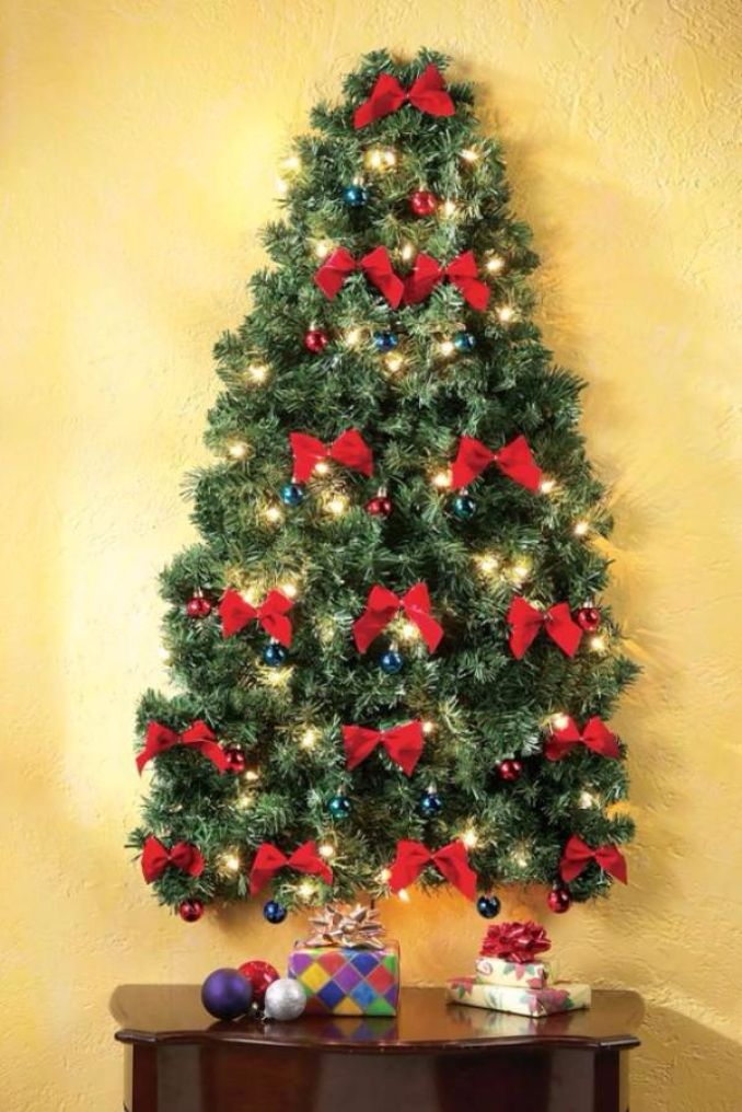 Cool Wall Christmas Tree Ideas For Your Home