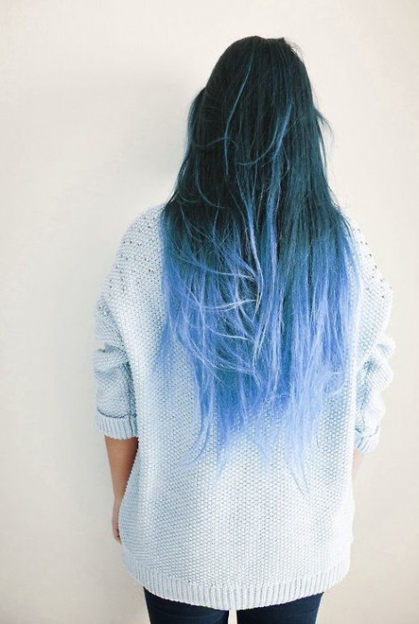 50 Awesome Blue Ombre Hair Color Ideas Youll Love To Try Out