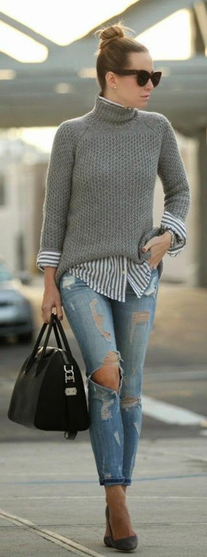 50 pullover sweaters outfit ideas for women - ecstasycoffee