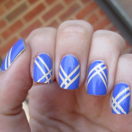 Striping Tape Nail Art Tutorial: 70 Gorgeous Striped Nail Art Designs And Ideas You Need To