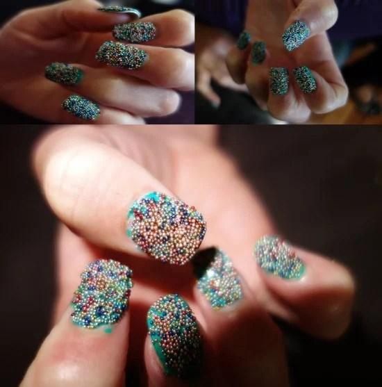 30 Amazing Rhinestone Nail Art Designs Ecstasycoffee: 30 Delightfully Cool And Unique Caviar Nail Art Design