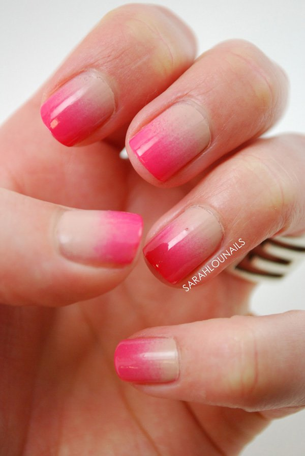 Clear Light Pink Nails