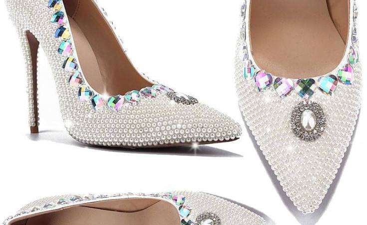 Pearl Weeding Pumps