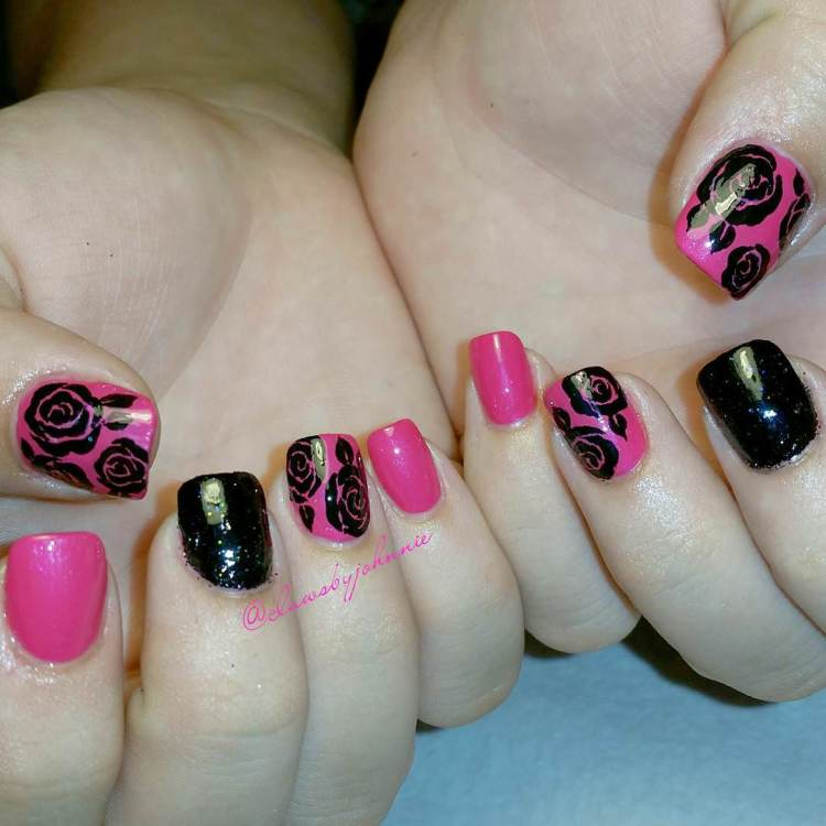 47 Gorgeous Rose Nail Art Designs For Summer 187 Ecstasycoffee
