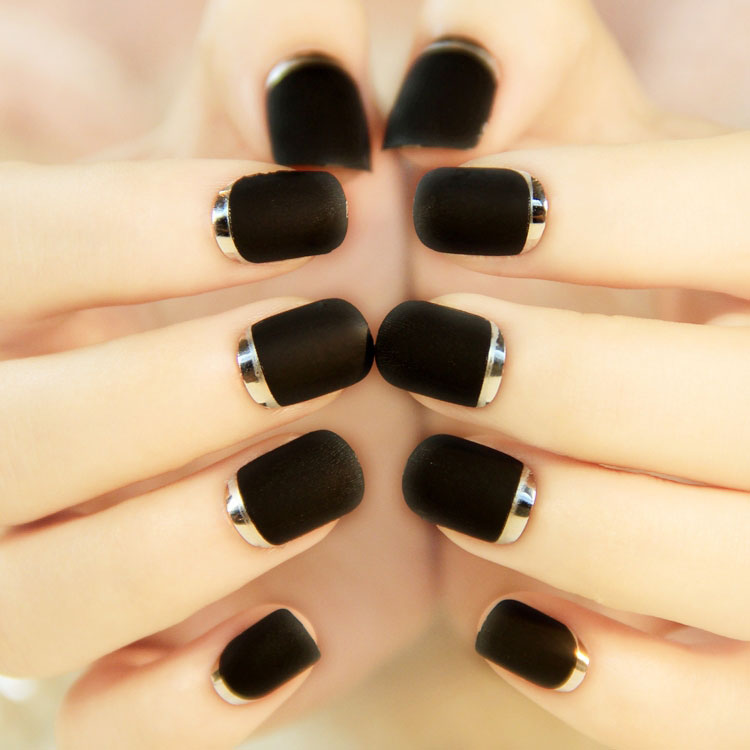 40 Cool Black French Nail Art Designs That Drop Your Jaw Off ...