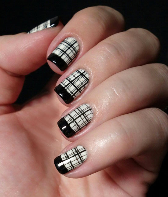 40 cool black french nail art designs that drop your jaw off black french nail art designs prinsesfo Image collections