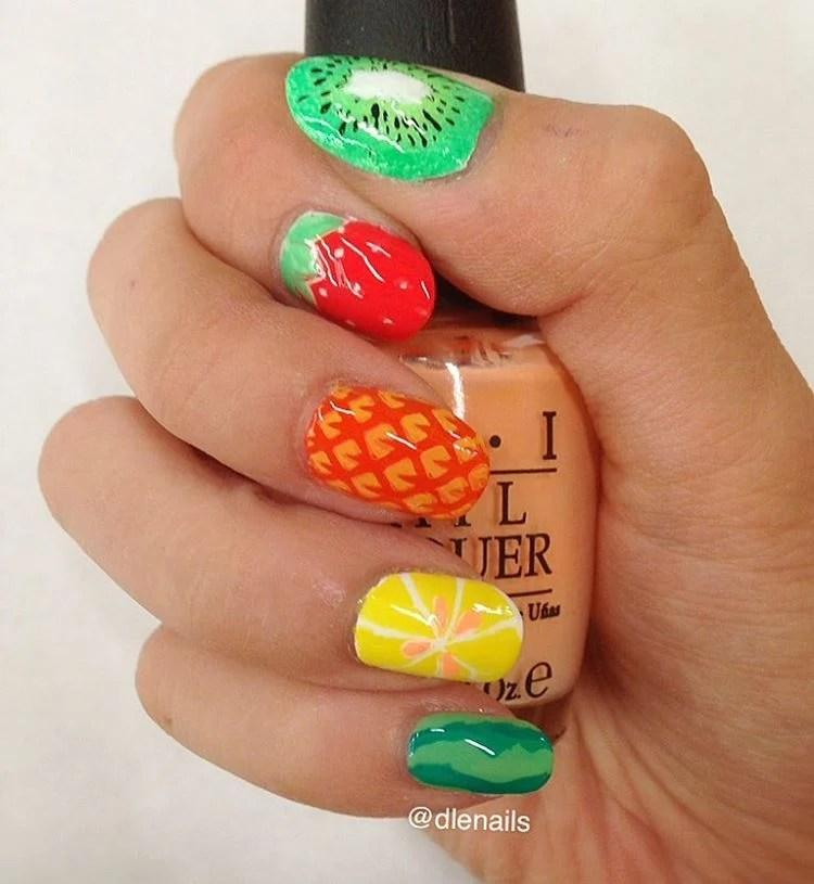 47 Best Fruit Nail Art Ideas To Refresh Your Summer Ze Nail Designs on ns design, blue sky design, dy design, berserk design, er design, dj design, color design, setzer design, l.a. design, pi design,