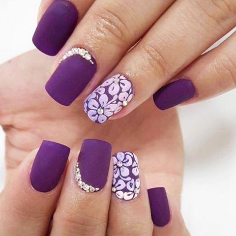 46 cute purple nail art ideas that are so cute