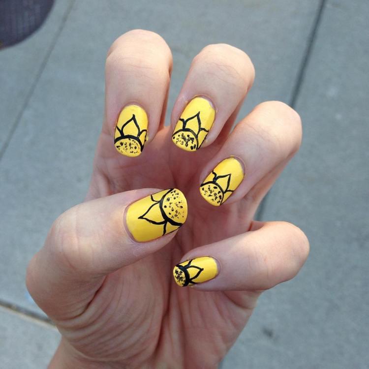 88 stunning yellow nail art designs just for you nailart nailedit nailgram nailpolish nailartclub nailfeature nailitdaily nailsbyhand prinsesfo Image collections