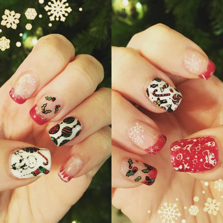 #ChristmasNails 2017 🎄 #nails #nailart #art #naildesigns #prettynails #holidaynails #cutenails #gelnails #gel #nailobsession #ilovenails
