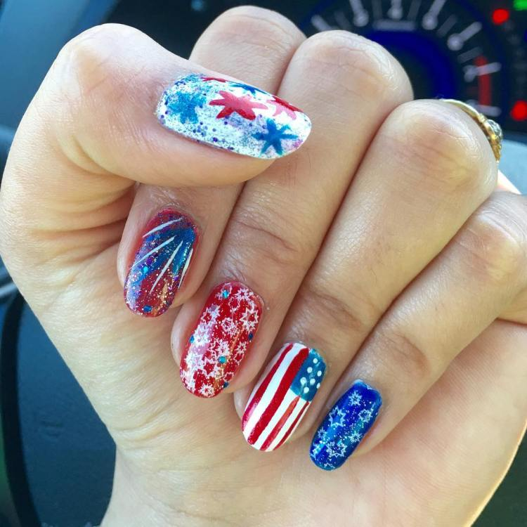 55 amazingly patriotic 4th july nail art ideas happy independence day my nail art prinsesfo Image collections
