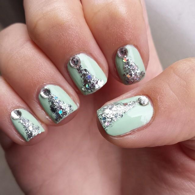 45 trendy sparkly nail art ideas to remain in style nails nailpolish polish nailart nailartoftheday nailartlove mintnailart sparklynailart prinsesfo Gallery