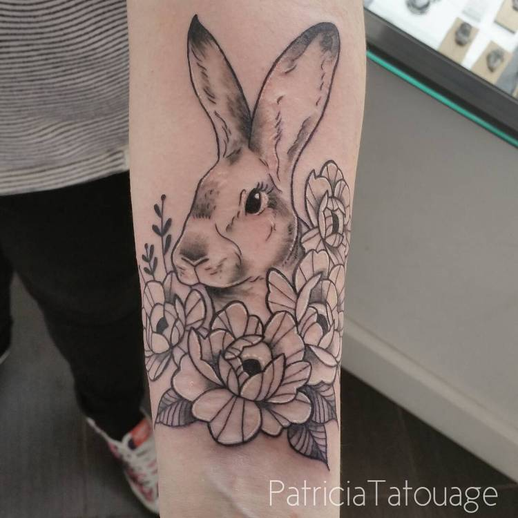 50 make an effective style statement with these rabbit for Rabbit tattoo kit