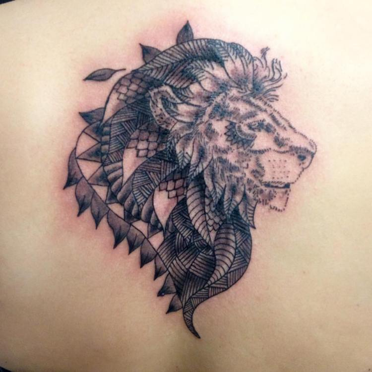50 powerful lion tattoo ideas to enhance your personality. Black Bedroom Furniture Sets. Home Design Ideas