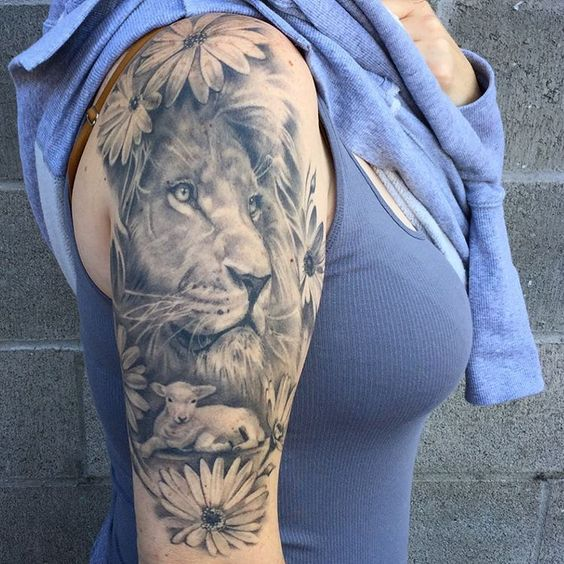 Snagged a healed pic of this lion and lamb.