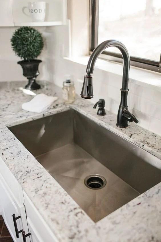 35 Cool Kitchen Sink Ideas to Make Kitchen Washing Task ...