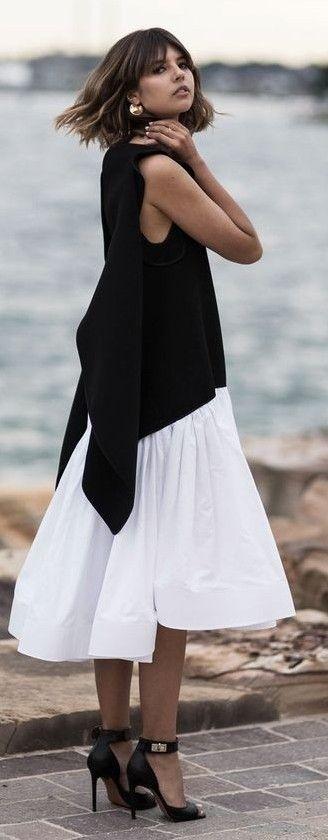 Black and White Beach Dress