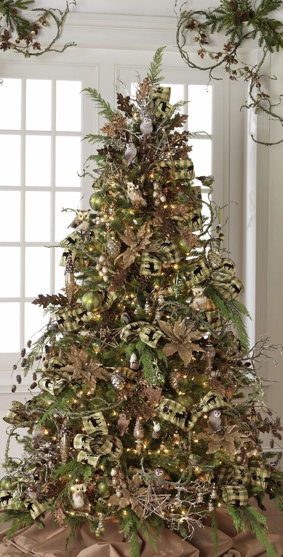 Christmas Tree Decorating With Ribbon