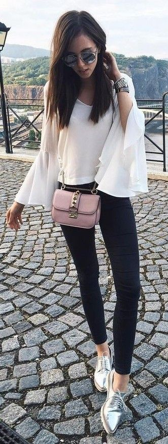 Black And White + Pop Of Pink and Silver
