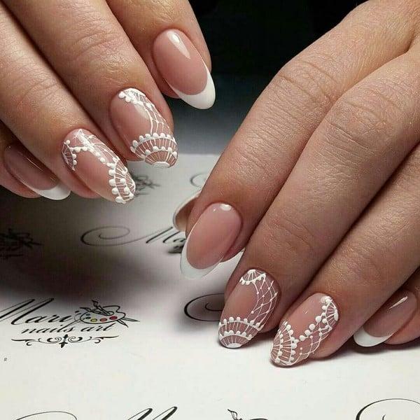 45 Awesome French Nail Art Designs - EcstasyCoffee