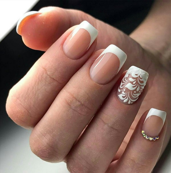 ... #french #manicure #nail #art #designs ... - 45 Awesome French Nail Art Designs » EcstasyCoffee