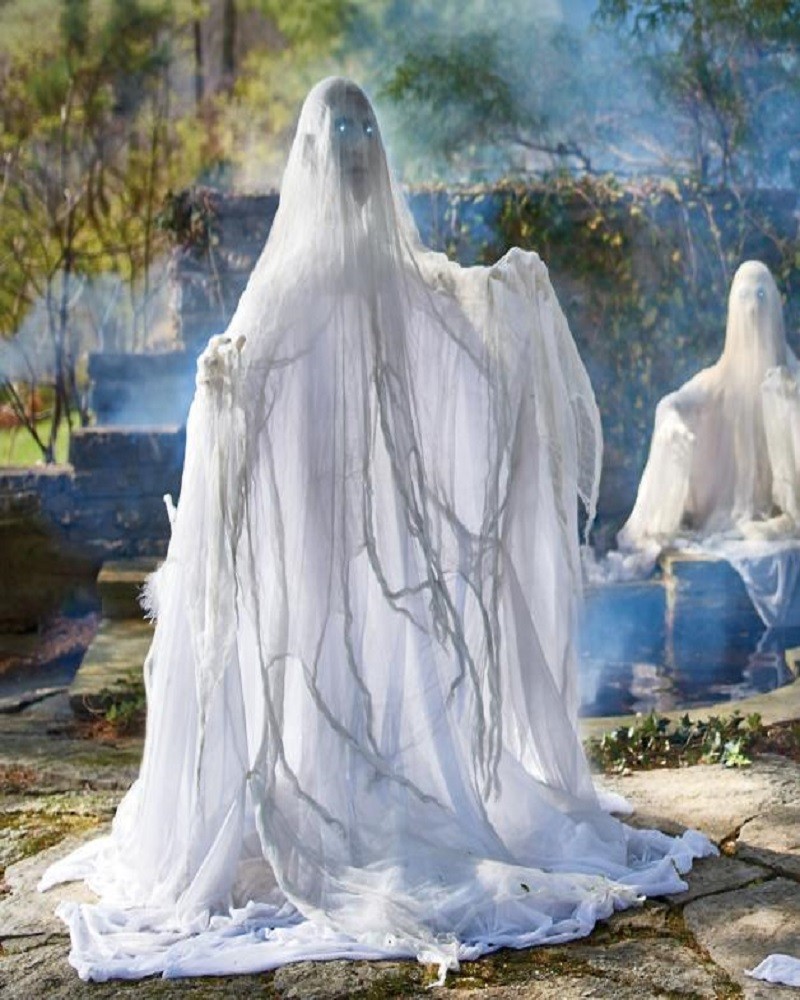 halloween ghost decoration stock photo. halloween ghost decoration