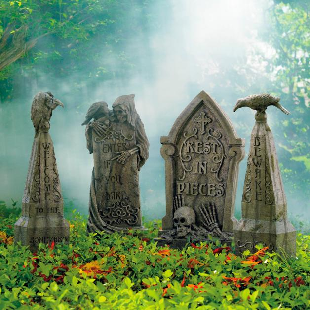 20 Serious And Scary Halloween Tombstone Decor Ideas