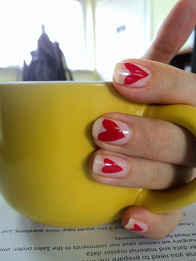 Heart Everywhere Nails.