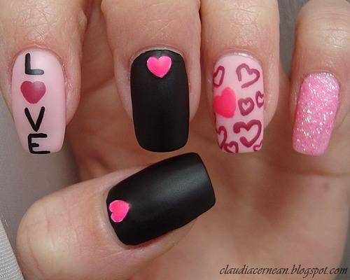 Hearts Nails.