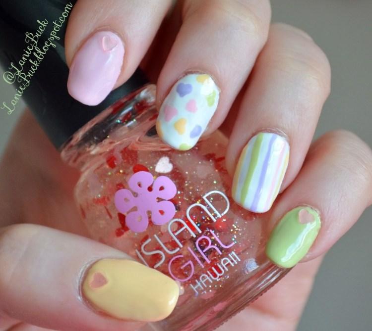 Pastel Hearts Nails.